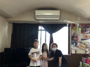 熊本市中央区のS様のお子様と一緒の写真
