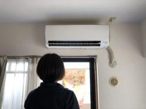 熊本市中央区F様邸エアコン動作確認の写真