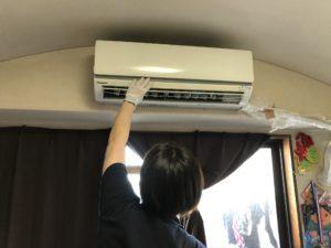 熊本市中央区のS様邸エアコン動作確認の写真