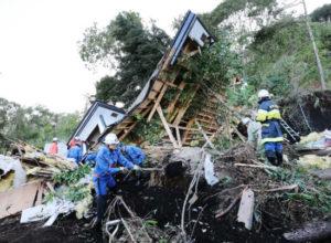 北海道地震の写真