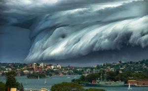 巨大津波の画像