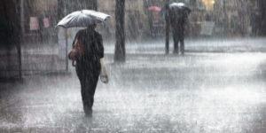 豪雨の写真
